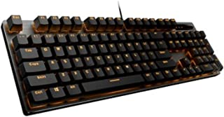 MINHUISHANGMAO Keyboard, Brand New Design Game Computer Keyboard, Single Light Version Ergonomic Design Style (black, 43.4...