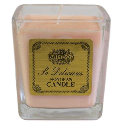 Résidus de bougie Parfumée-So Delicious. Durée de combustion : 30–35 heures, Dimensions (H x P) : 8 cm x 7 cm x 7 cm.. le cadeau Parfait-Idéal pour les anniversaires, Christmas......