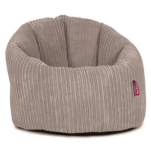 Lounge Pug, Sitzsack Kuschel Lounge Sessel, Schlafsofa, Cord Nerzfarben