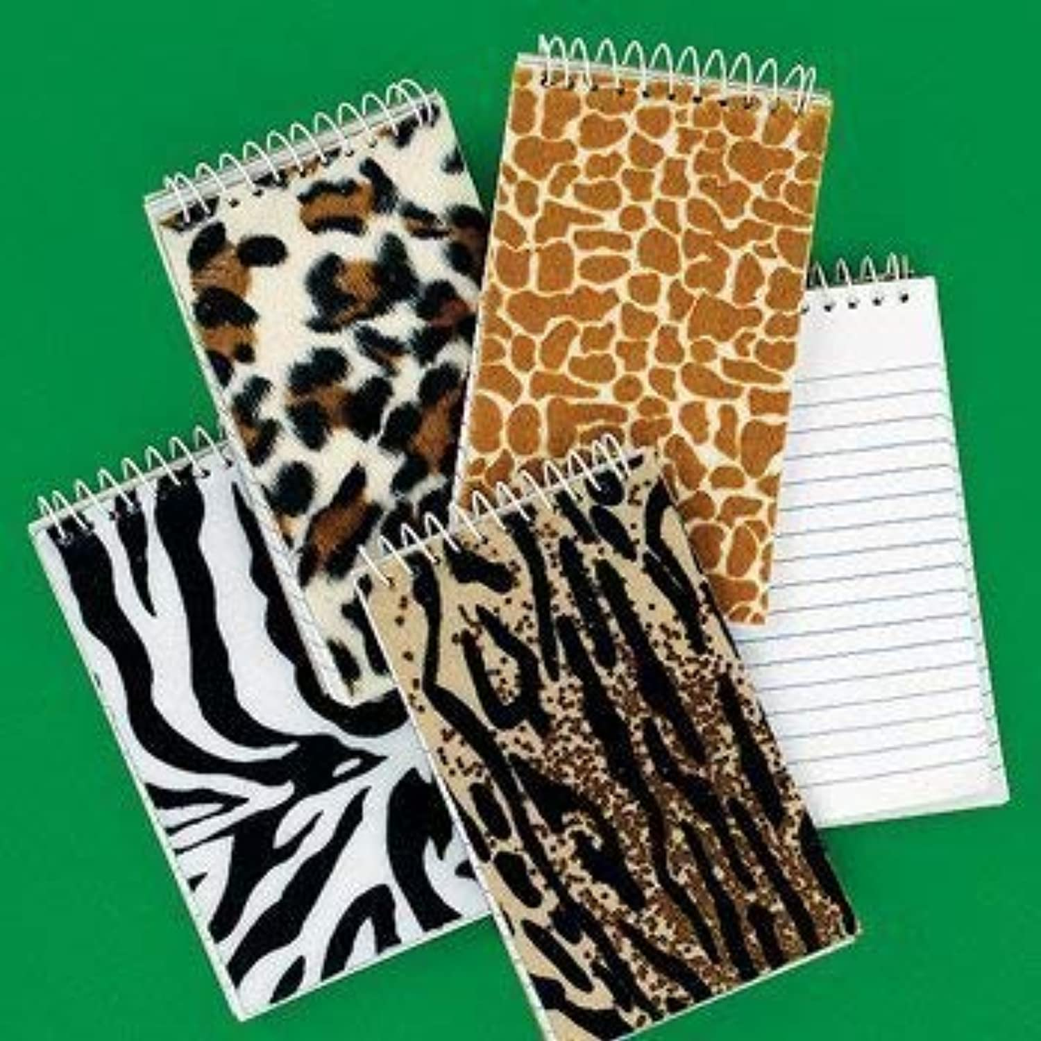 Dozen Plush Animal Print Spiral Notepads [Toy]