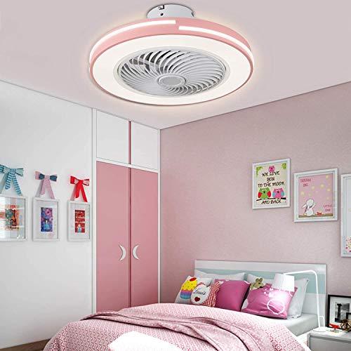 Ventilador de luz de techo con kit de control remoto, ventilador de techo de 20 pulgadas Lámpara de ventilador LED, 3 colores que cambian la velocidad ajustable, iluminación interior, para dormitorios