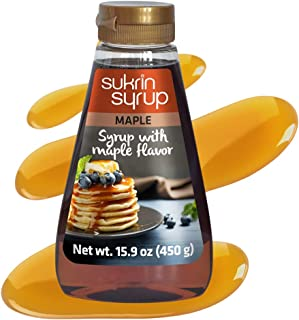 Sukrin Maple Syrup - Healthy Syrup & Honey Substitute for Cooking, Baking & Toppings – Natural Origin, Zero Carb, Zero Cal...