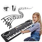 Simlug Kinder-Klaviertastatur, 61Key Electric Digital Key Board Klavier Musikinstrumente Kinderspielzeug mit Mikrofon -