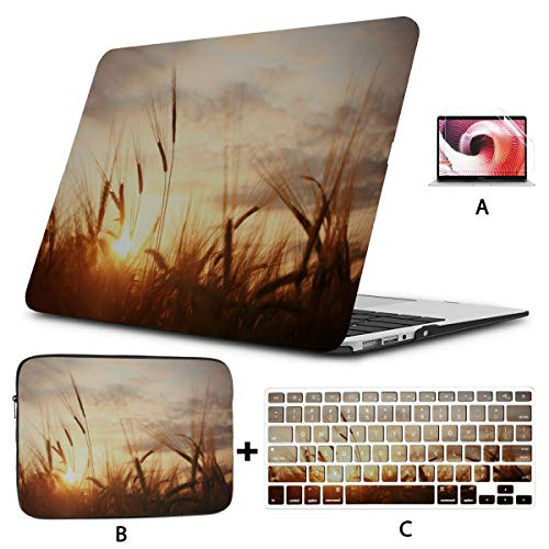 Macbook Air Covers Country Farm Sunset Scene Macbook Pro Case 2018 Hard Shell Mac Air 11'/13' Pro 13'/15'/16' With Notebook Sleeve Bag For Macbook 2008-2020 Version