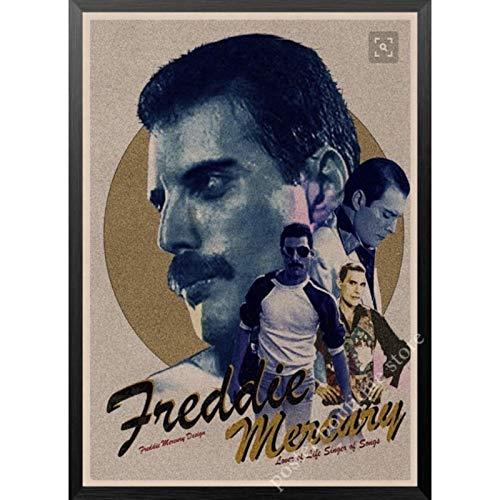 Queen Band Musikplakat Freddie Mercury, Brian May Vintage dekorative Malerei Wandaufkleber 50x70cm Kein Rahmen AQ-1068