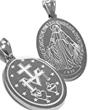 Catholic - Oval Miraculous Mary Medal - Medalla - Virgen Milagrosa - Two Sizes Available -choose yours (35 mm or 25 mm Height) (25 Millimeters)