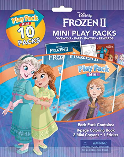Disney Frozen 2 Mini Play Packs 10-Pack with Crayons and Stickers 45816