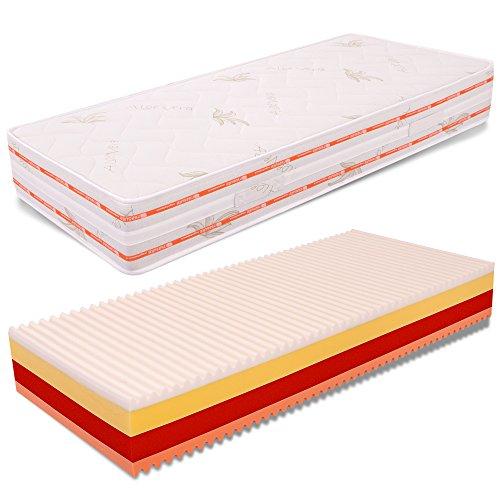 AILIME SRL Materasso Memory 4 Strati Singolo Top Air Relaxa 80x190 Alto 25 cm Aloe Vera Dispositivo Medico