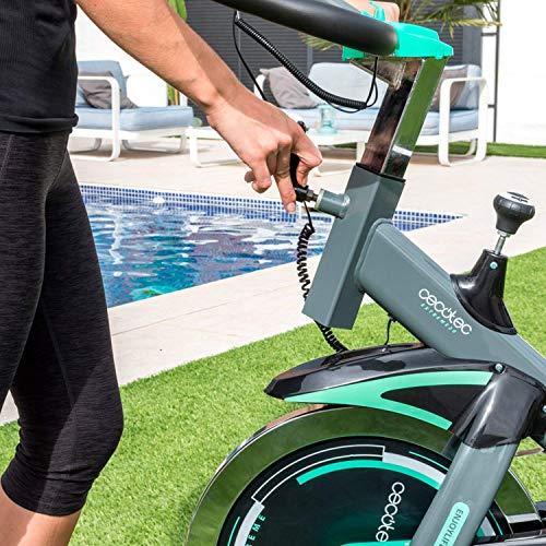 Cecotec Bicicleta Indoor Extreme 20, Volante inercia, 20 kg, Pulsómetro, Pantalla LCD, Resistencia Variable, Estabilizadores, SilenceFit