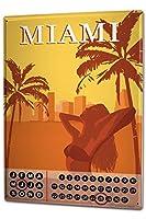 カレンダー Perpetual Calendar Adventurer Miami Tin Metal Magnetic