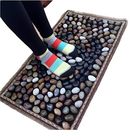 XLanY Fußreflexzonenmassage-Matte, Kopfsteinpflaster-Fußmassage-Kissen-Teppiche, Steinmatten Gehen Teppich-Straßen-Badezimmer-Yoga-Badezimmer, Entlasten Plantarfasziitis-Druck