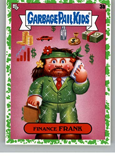 2020 Topps Garbage Pail Kids Series 2 35th Anniversary Booger Green Puke NonSport #3B FINANCE FRANK Official GPK Sticker Trading Card From The Topps Company highlighting Fan Favorite Characters throughout the years in Raw (NM or Better) Condition