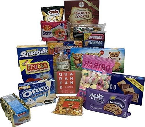 QUARANTÄNE Überraschungsbox - Zufällige Mischung mit Snacks aus aller Welt – viele Markenprodukte zum kleinen Preis – süße, salzige und saure Leckereien zum Naschen in deiner Candy Box