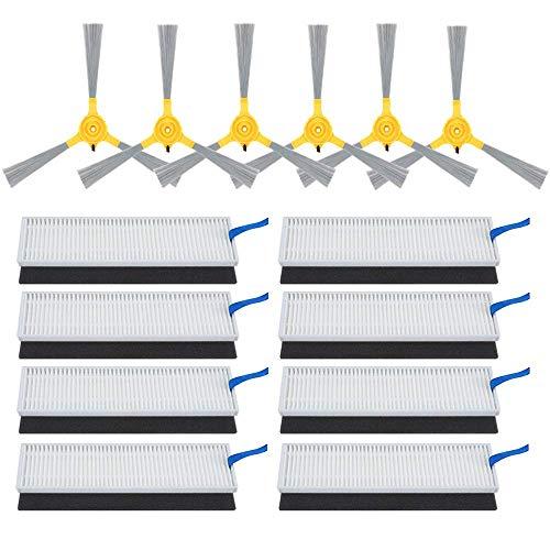 CSTATTOO - Piezas de repuesto para aspiradora robótica Eufy RoboVac 11+ 11 Plus - Cepillo lateral y filtro de alto rendimiento (total 22 piezas)