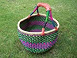 Einkaufskorb Bolga-Korb, Bolgakorb aus Burkina Faso, Malikorb aus Steppengras, ca. 40cm, (Farbe/Muster wechselnd Sortiert von Korbhaus Gesthüsen).
