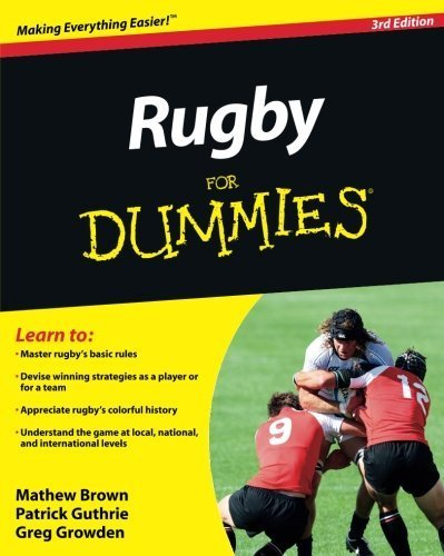 Rugby For Dummies by Mathew Brown Patrick Guthrie Greg Growden(2011-08-30)