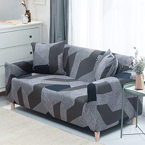 Funda de sofá Asiento elástico Fundas de sofá sillón Muebles Fundas sofá Toalla 1/2/3/4 plazas A10 2 plazas