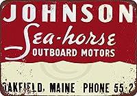 ジョンソン海馬船外機 金属板ブリキ看板警告サイン注意サイン表示パネル情報サイン金属安全サイン