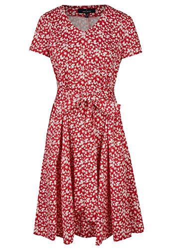 Daniel Hechter Damen Dress Kleid, Rot (Red 300), (Herstellergröße: 38)