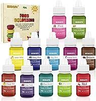 Colorante alimentario 12*10ml, Colorante Alimentario Alta Concentración Liquid Set para Colorear los Bebidas Pasteles...