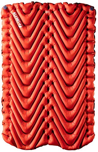 Klymit Unisex's Insulated Double V Sleeping Pad, Red-2020, One Size