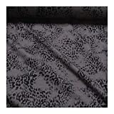 Stoff Baumwolle Elastan Single Jersey braun Leopard