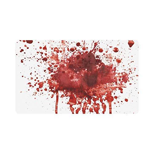Kanaite Lustige bespritzt Blutfleck Horror Halloween Thema Fußmatte Indoor Outdoor Eingang Teppich Fußmatten Schuh Schaber Fußmatte rutschfeste Home Decor, Gummi sichern