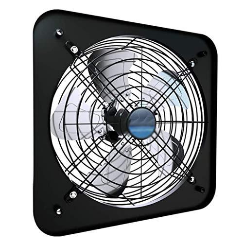FENXIXI Escape Cuadrado del Ventilador de Escape, los hogares de Ventana Ventilador 12 Pulgadas de Alta Velocidad, for la ventilación de Escape Proyectos Negro