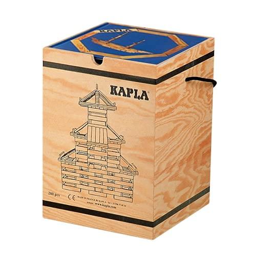 積木・カプラ カプラ280(白木)+デザインブック(中級・青)>木箱入り 【並行輸入品】
