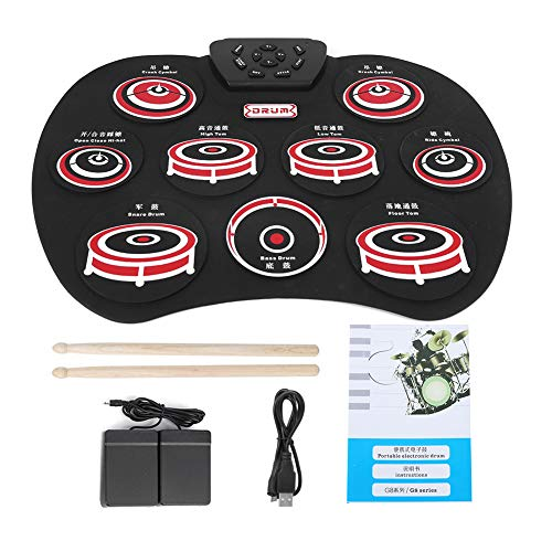 Faltbare Trommel, elektronisches Multifunktions-Silikon-Roll-Up-Drum-Kit, tragbares interessantes Set G802 Musikinstrumentenzubehör