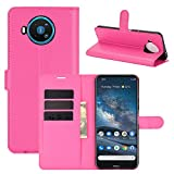 [CNL] Nokia 8.3 5G Phone Coque, Nokia 8.3 5G Coque Housse Flip Cuir PU + Etui Fixe Protection Case 2