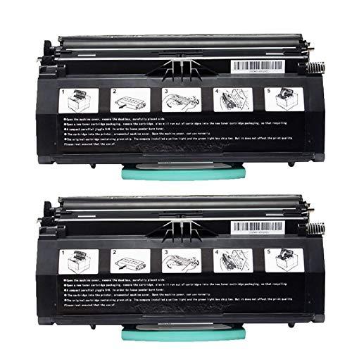 RRWW Cartucho de tóner E260 de repuesto para impresoras Lexmark E260d, E260dn, E460, E462, E463, E464, 2500 páginas por cartucho de tóner negro, 2 unidades, color negro
