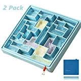 Silicone Ice Tray with Lid, Tetris Silicone Ice Tray Cocktail Drink Creative Frozen Ice Cube Mold Home DIY Ice Box,Blue