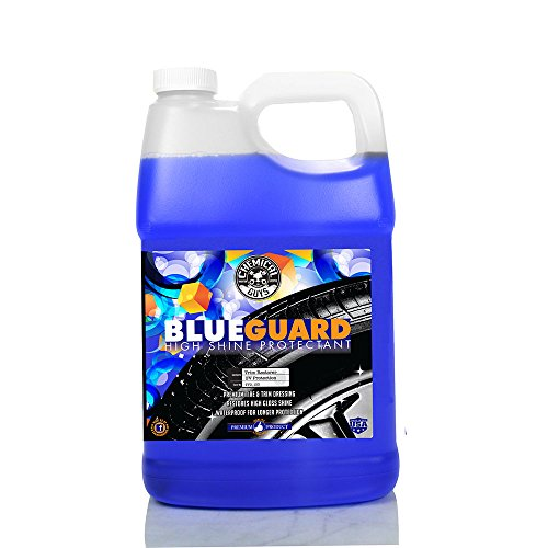 Chemical Guys TVD_103 Blue Guard II Wet Look Premium Sprayable High Gloss Shine Dressing and Conditioner for Rubber and Plastic, 1 Gal
