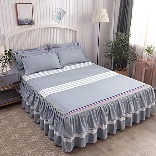 Bilaterale Bed Gonna Singolo Prodotto Singolo Prodotto Skin Amichevole Principessa Aloe Bed Skirt Gonna Doppia ingrandita Lettino Letto Tessile Tessili Tessili Tessili, Adatto per tutti i tipi di mate