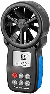 YUWEIPING Anemometer Digital Integrated Anemometer Measuring Instrument Handheld High Precision Meter (Color : Black)