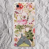 Floral for LG G5 G6 G8 Google Pixel 4 3 3a XL 4xl 2XL 3XL 2 XL Phone Case Anime Inspired by My Neighbor Totoro Pink Flowers for Women Girls Gifts Silicone TPU Clear Cover