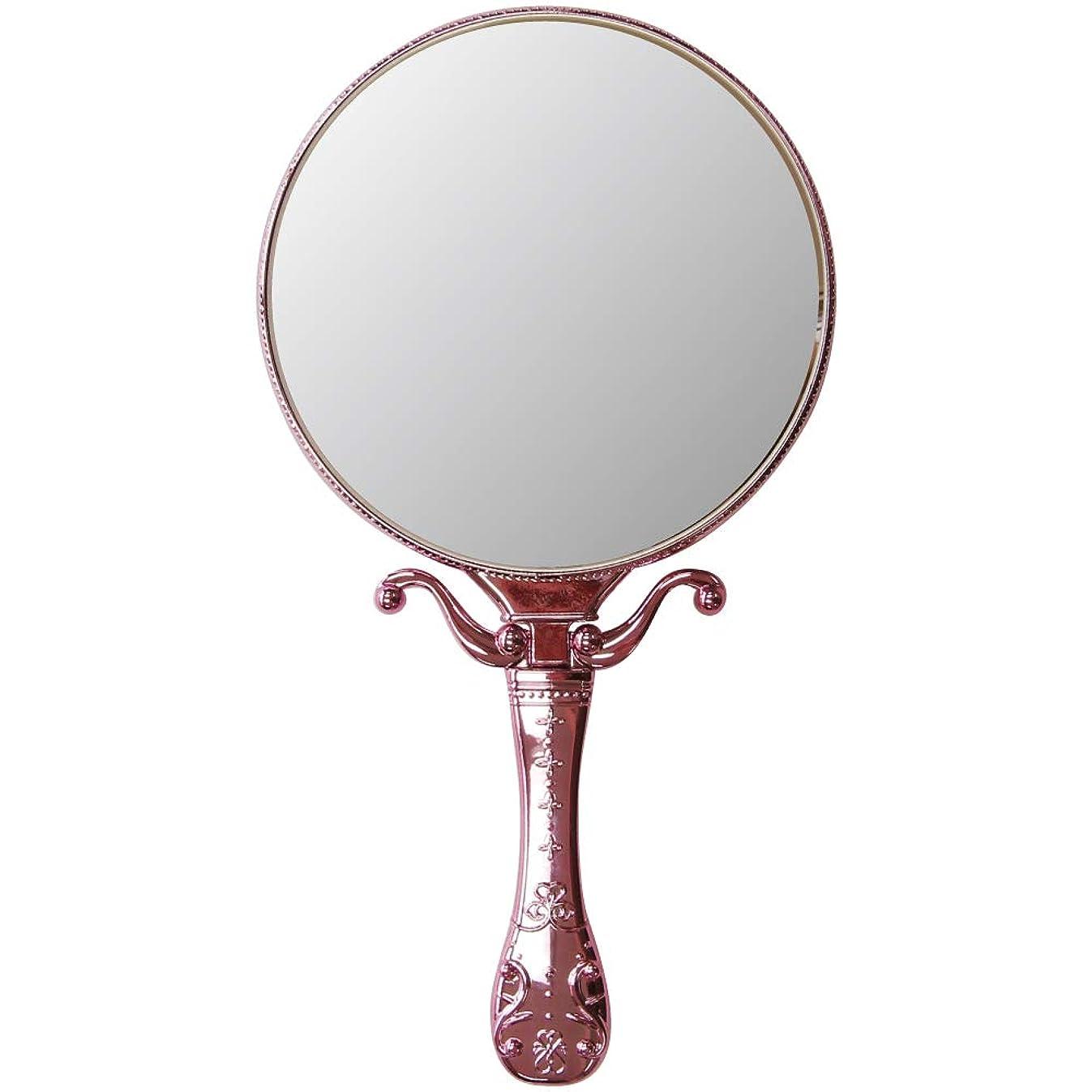 明らかにする財布スケッチ[姫] トゥウィンクル ハンド & スタンドミラー ヤマムラ [鏡] 手鏡 メッキ ハンドミラー 卓上ミラー【※こちらは「ピンク」のみの販売ページとなります】ピンク