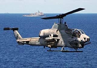 US Marine Corps USMC AH-1W Super Cobra Helicopter Poster Photo US Military USMC Photos Posters 12x18