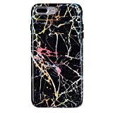 Velvet Caviar Holographic Black Marble iPhone 8 Plus Case/iPhone 7 Plus Case - Color Changing Protective Cover - Phone Cases for Men, Women [Drop Test Certified]