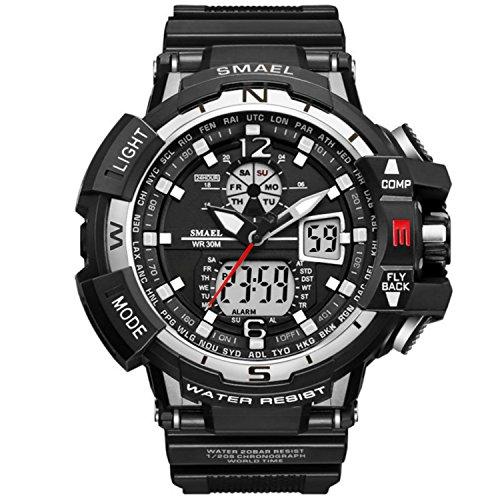 Reloj deportivo para hombre con doble esfera digital y analógica