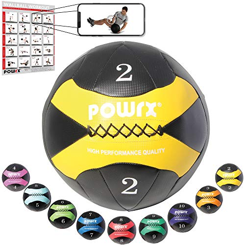 POWRX – Wall Ball Balón Medicinal 2 kg