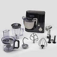 ماكينة المطبخ Evvoli 4.5L ، 1100W ، مع ملحقات شاملة ، أسود ، EVKA-KM45B ضمان لمدة عامين