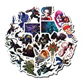 20 PCS Stickers Pack League Aesthetic of Vinyl Legends Colorful Waterproof for Water Bottle Laptop Scrapbooking Luggage Guitar Skateboard