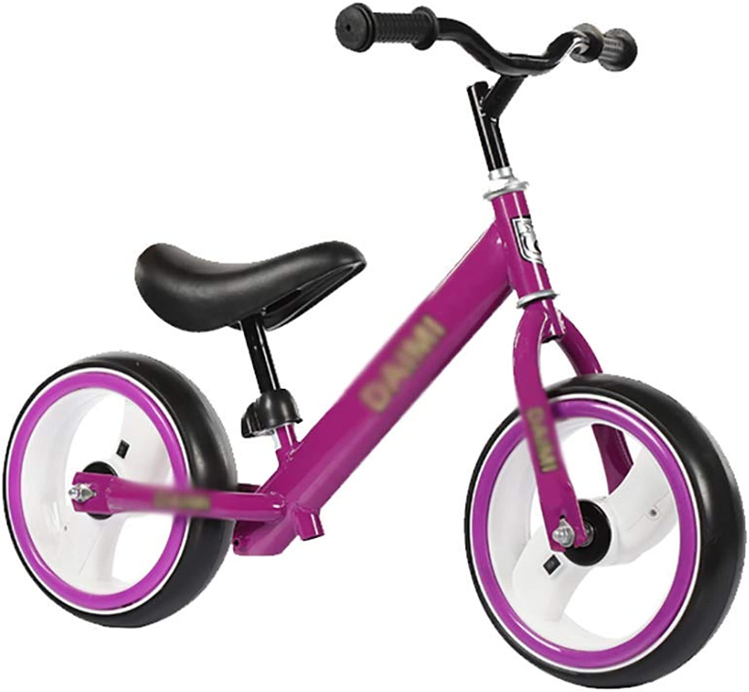 12 Inch Balance Bike No Pedal Bicycle with Adjustable Handlebar and Seat for Kids from 26, Illuminated Wheel