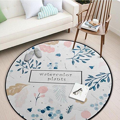 William 337 Runder Teppich, Schlafzimmer Wohnzimmer Sofa Couchtisch Otto Erde Matte Yoga Matte Runde Decke (Farbe : #2, größe : 150 * 150cm)