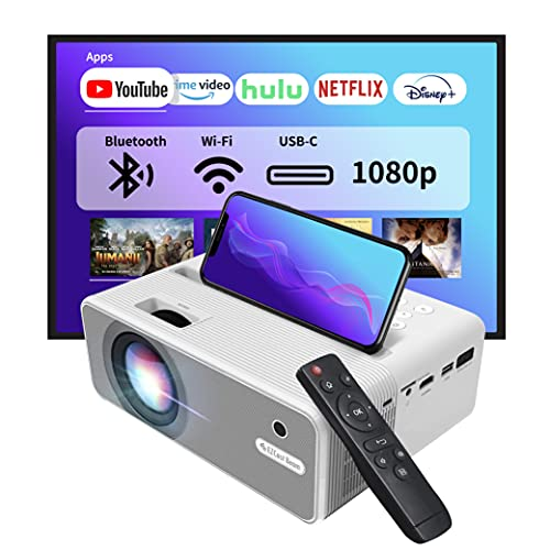 Proiettore WiFi EZCast Beam H3 5GHz | Proiettore da ufficio nativo 1080P, 10600 lumen, porta USB-C e HDMI, compatibile con Fire TV Stick, Roku, HDMI, USB, aggiornamento OTA. buono per l esterno