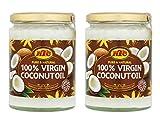 KTC - Aceite de coco virgen 100 % puro - Prensado en frío - 500 g - Pack de 2 unidades