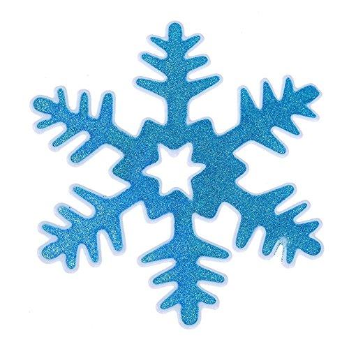 UEB Vetrofanie Natale Adesivi Fiocchi Di Neve Di Natale In Silicone Decorazioni Per Vetro Finestra Vetrina (Blu)