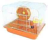 BPS Hamster Hamster Cottage avec roue, mangeoire et buveur 22.5 * 17 * 19 cm BPS-1257 (orange)